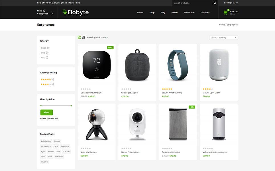 Elobyte - Electronics Store WooCommerce Theme