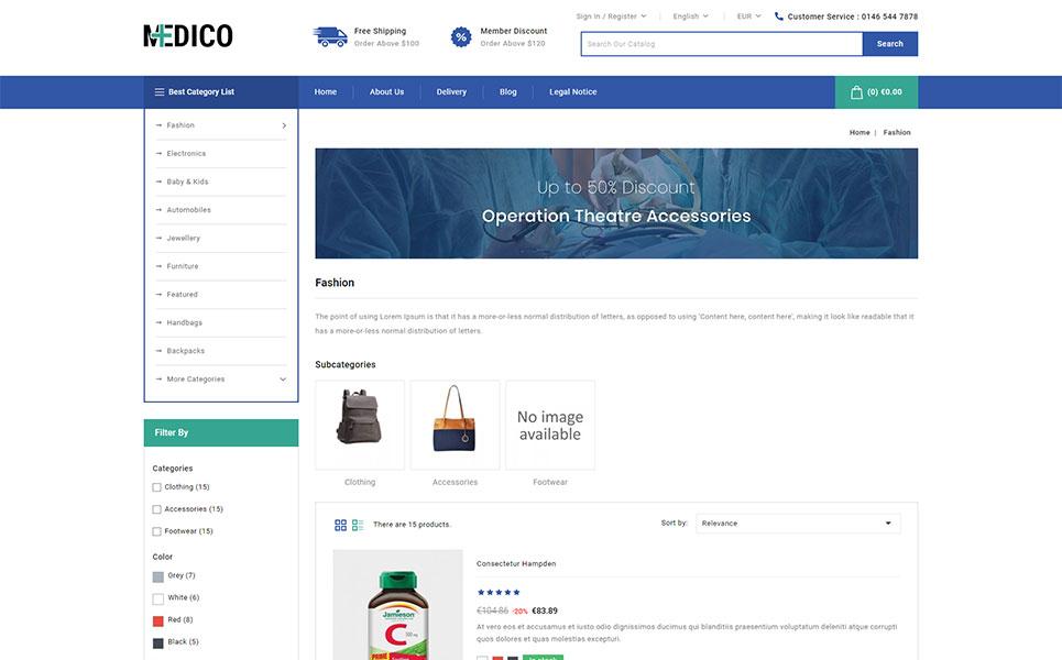 Medico - Medical Store PrestaShop Theme
