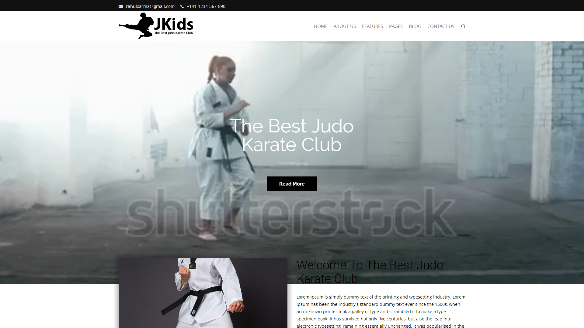 Judo & Karate Website Template