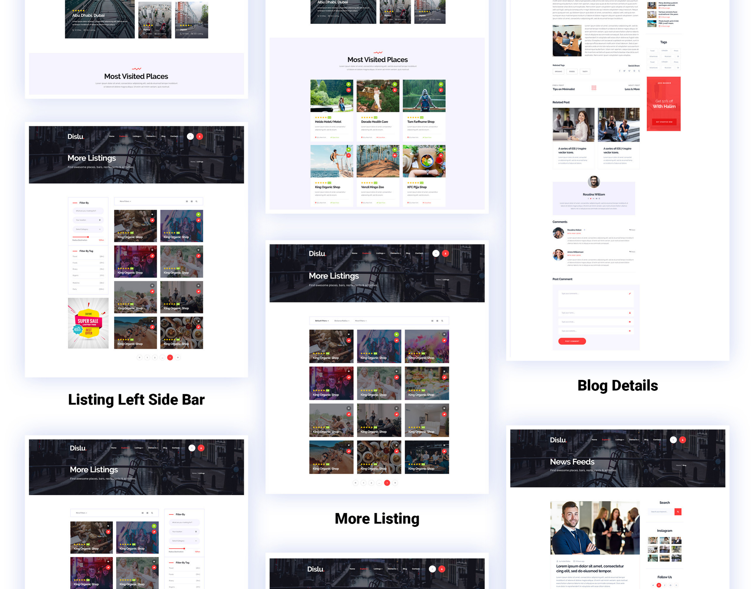 Dislu Website Template