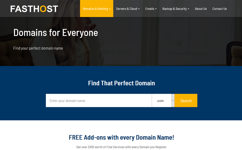 Fasthost - Web and Domain Hosting Website Template