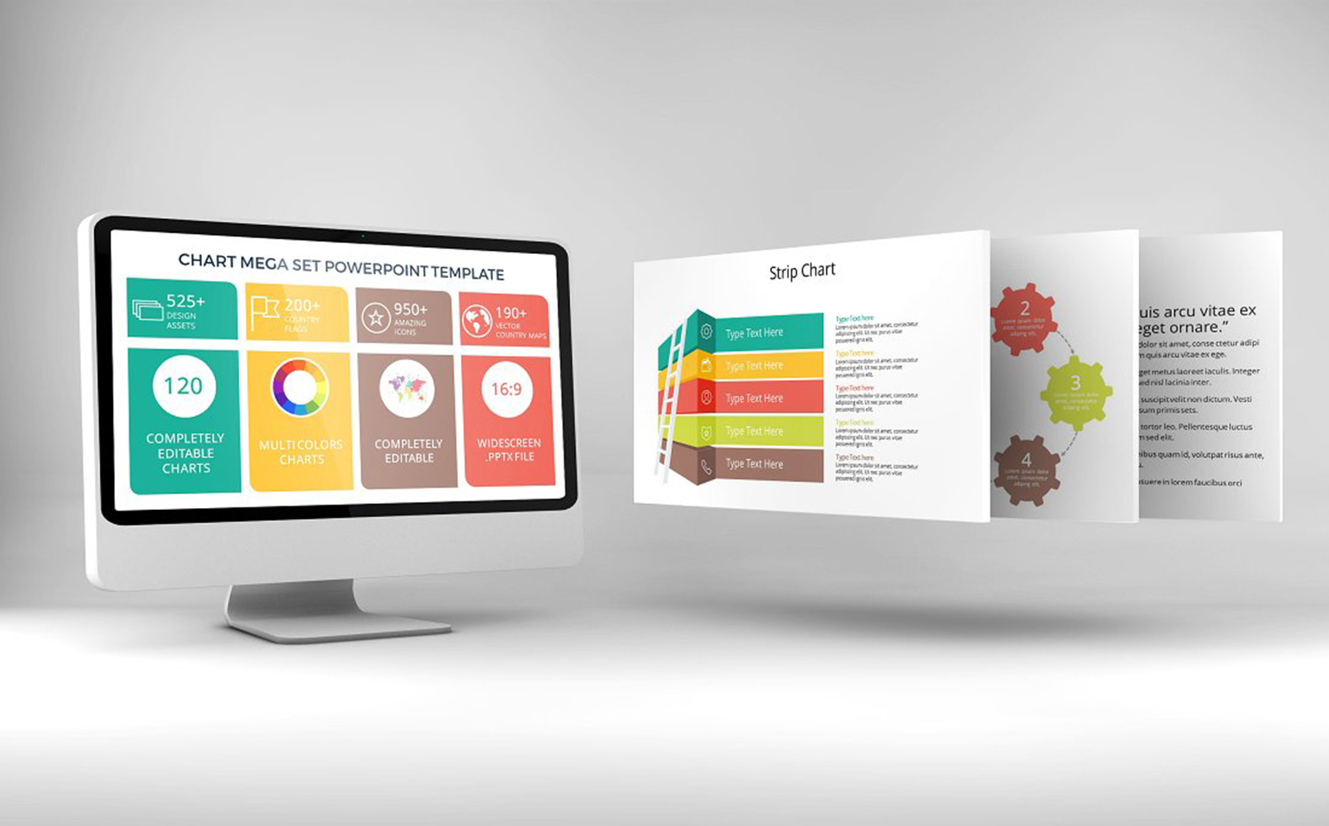Chart & Strategy PowerPoint Template