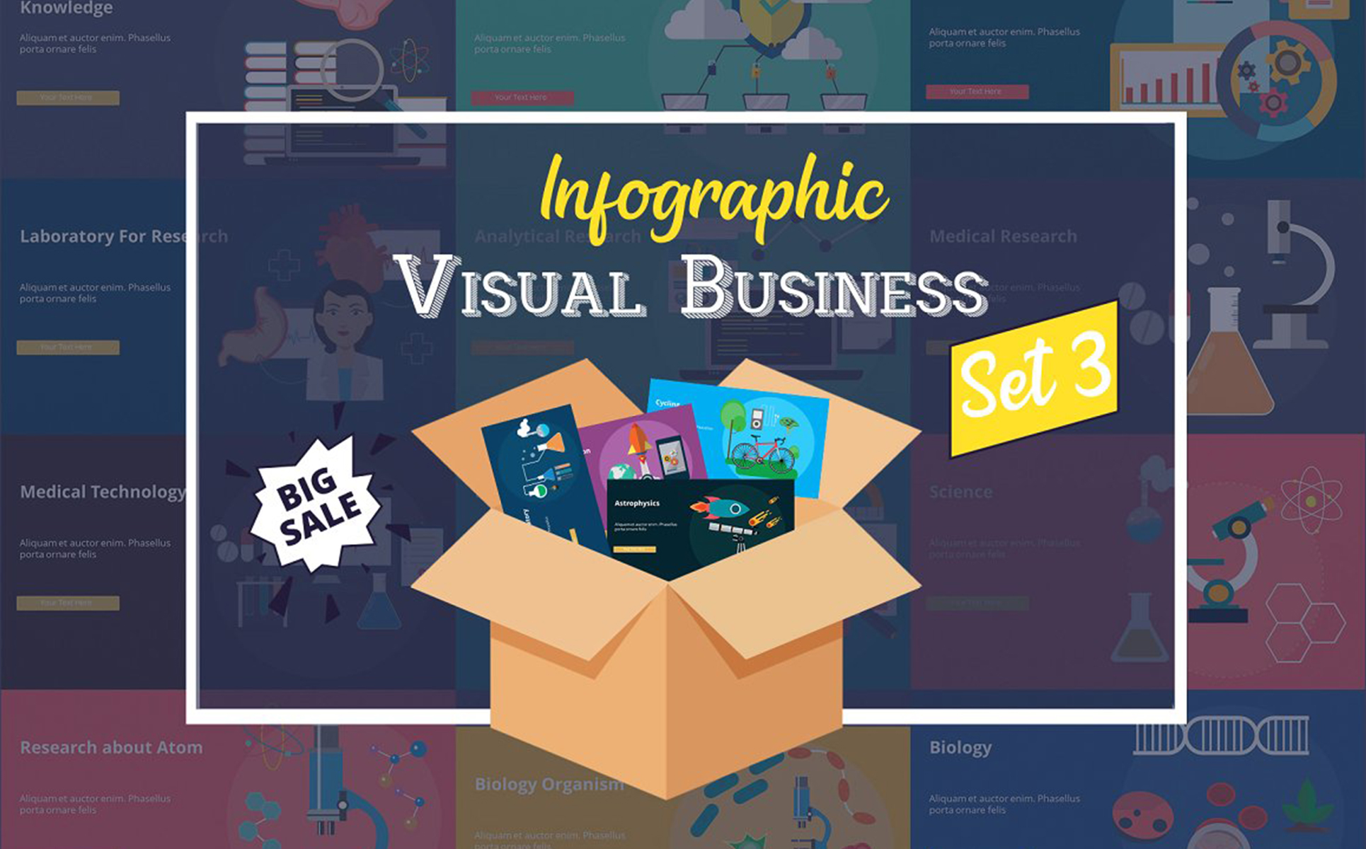 Visual Business Set 3 PowerPoint Template