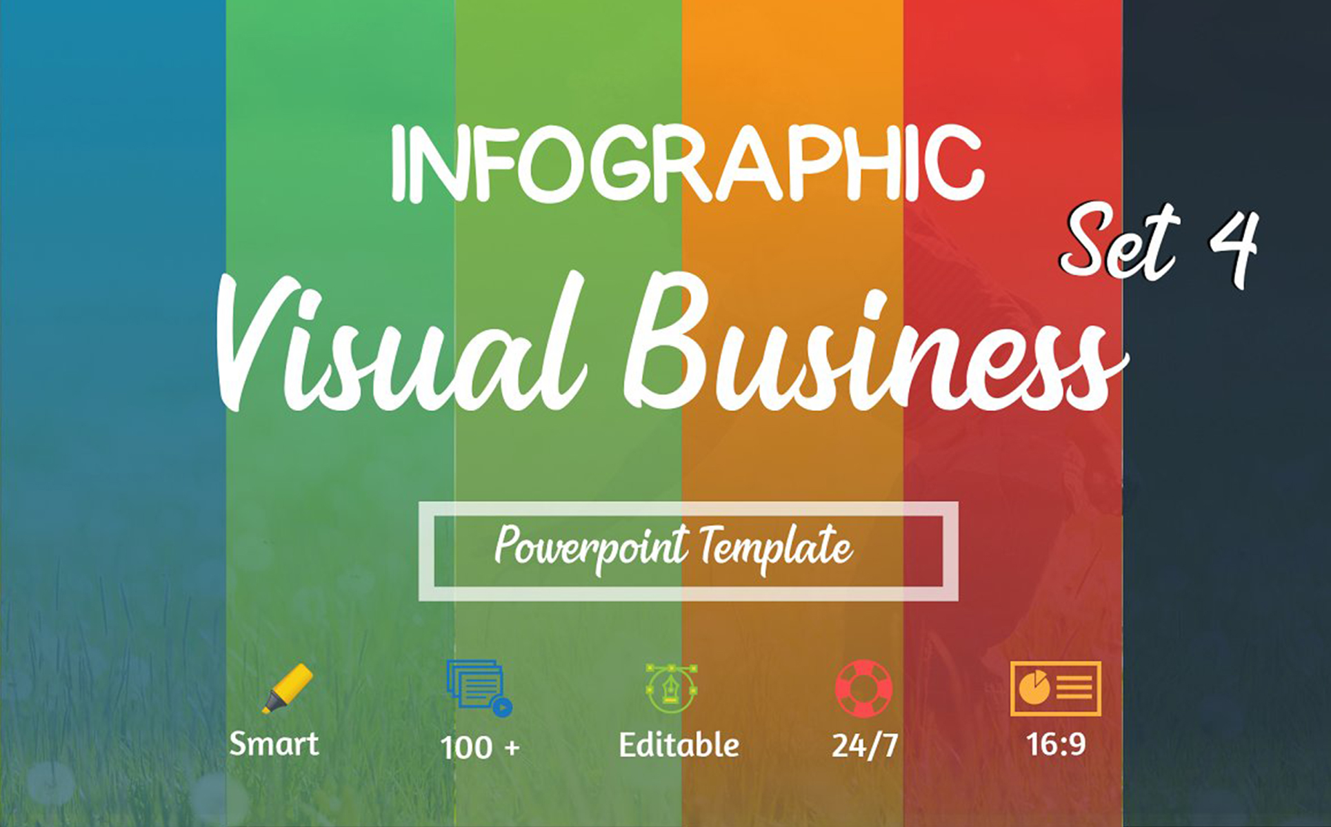 Visual Business Set 4 PowerPoint Template