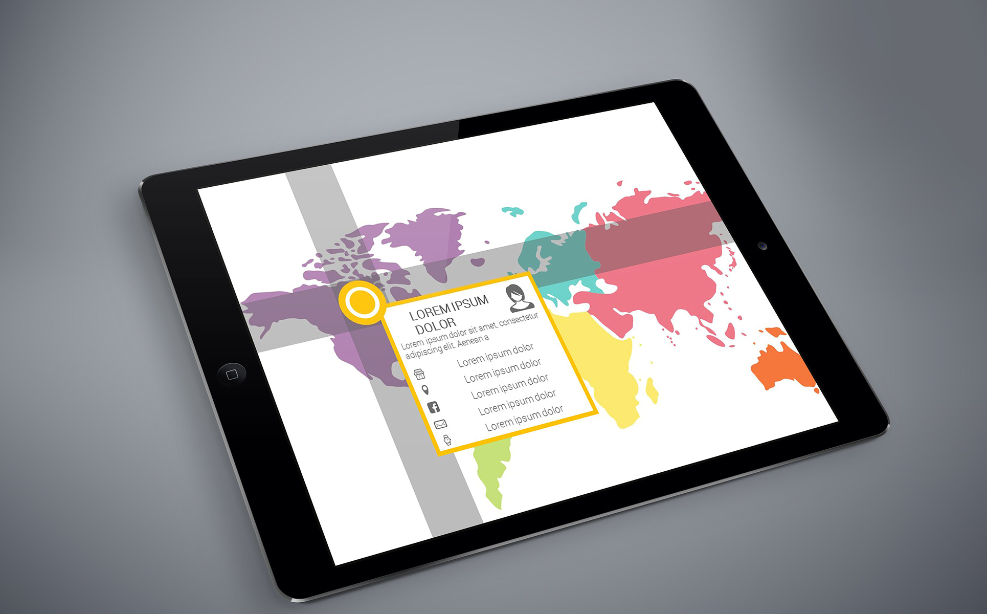 Smart World Map Infographics PowerPoint Template