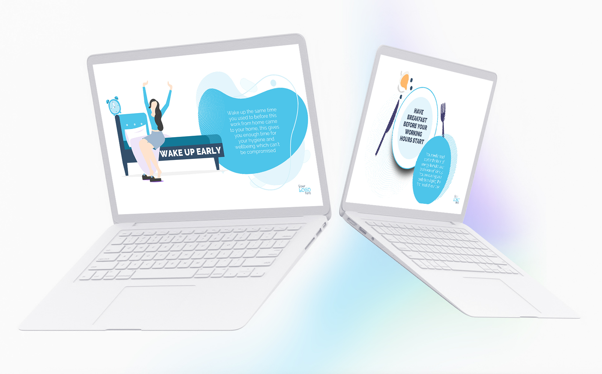 Work From Home Guidelines PPT PowerPoint Template