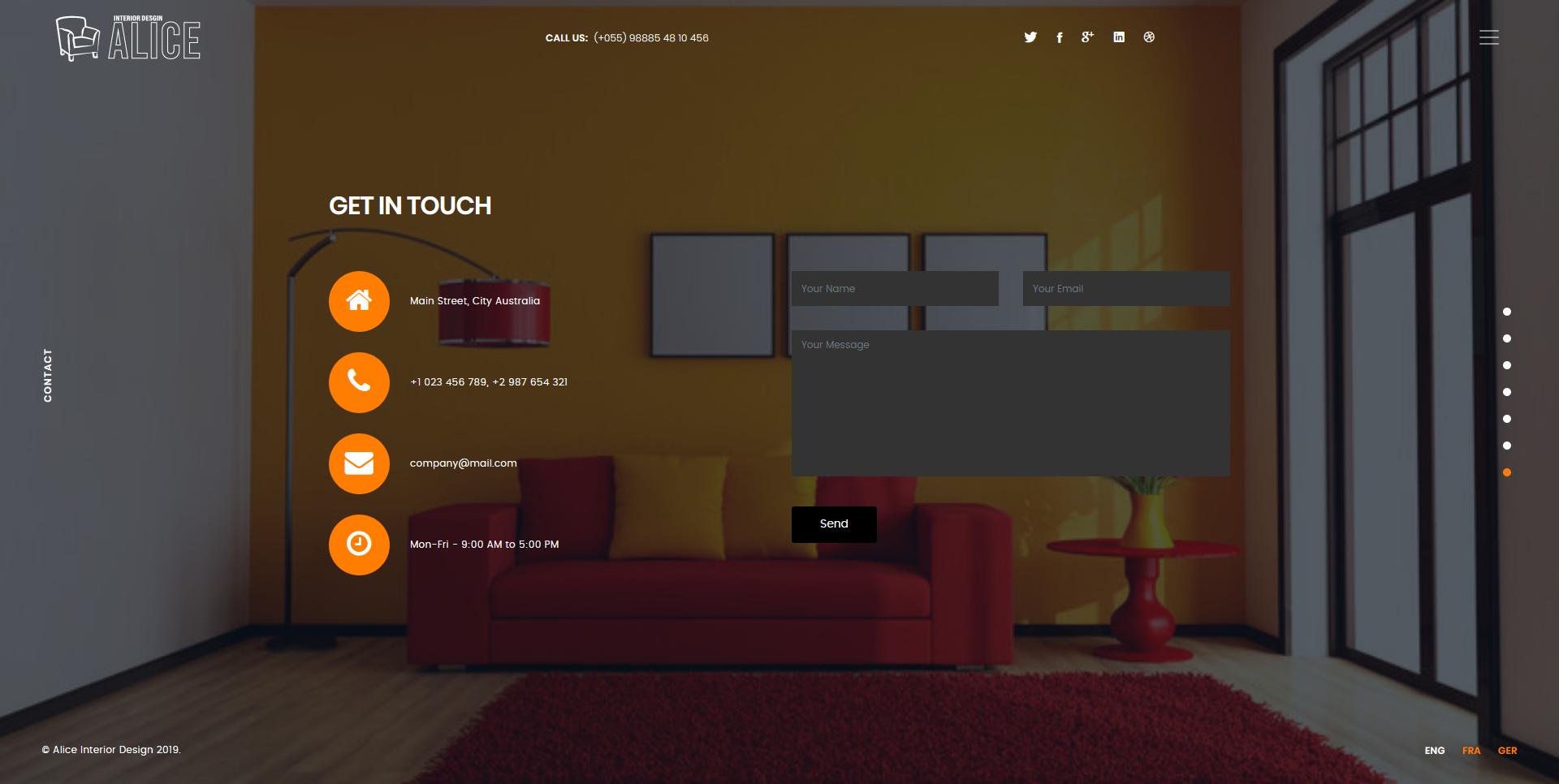 Alice - Interior Design Landing Page Template