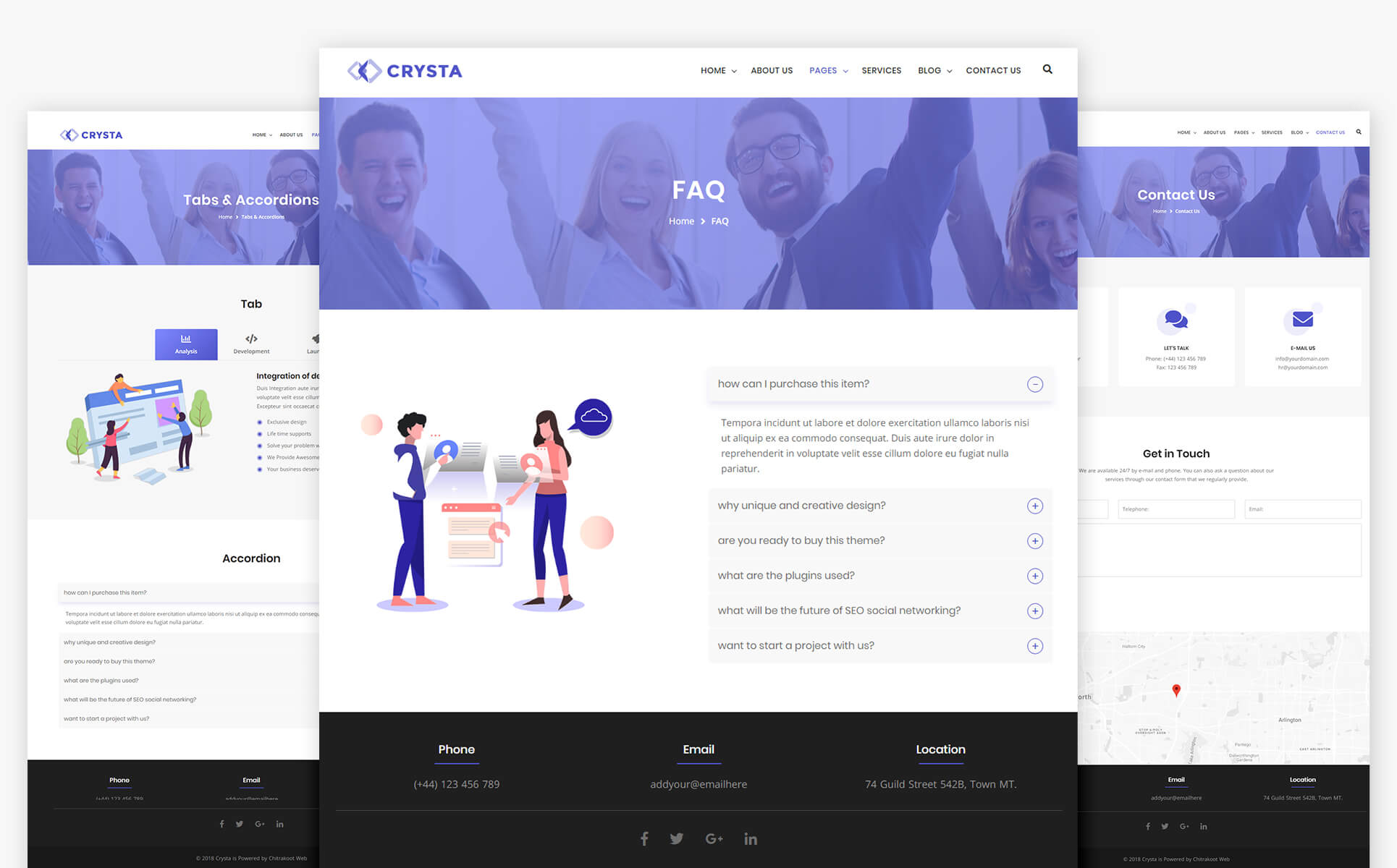 Crysta - Startup Agency and SasS Business Website Template