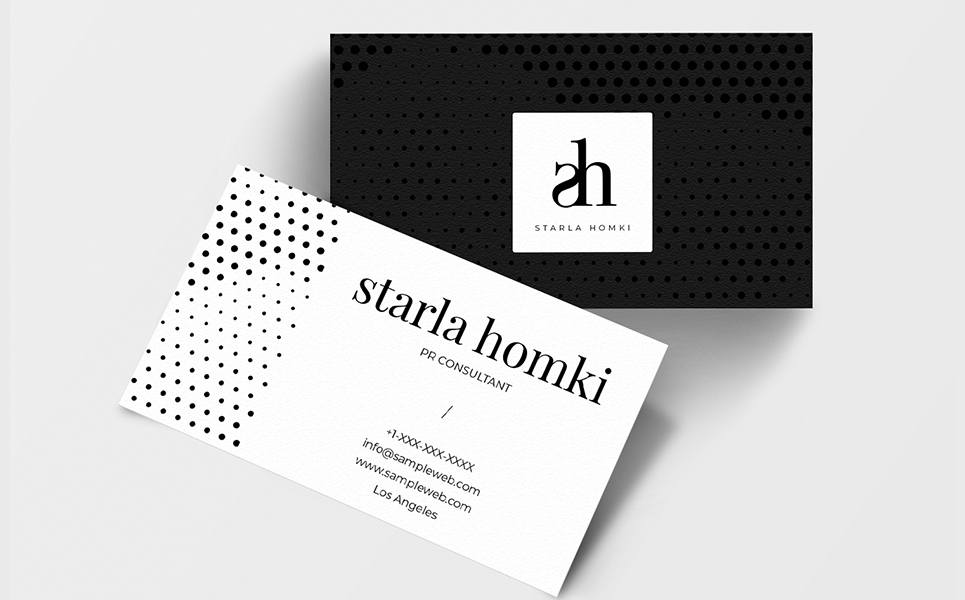 Starla Simple Minimal Business Card Corporate Identity