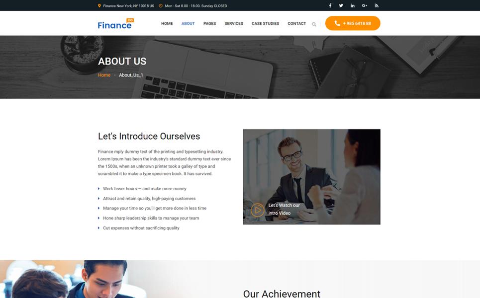 Financeco Website Template