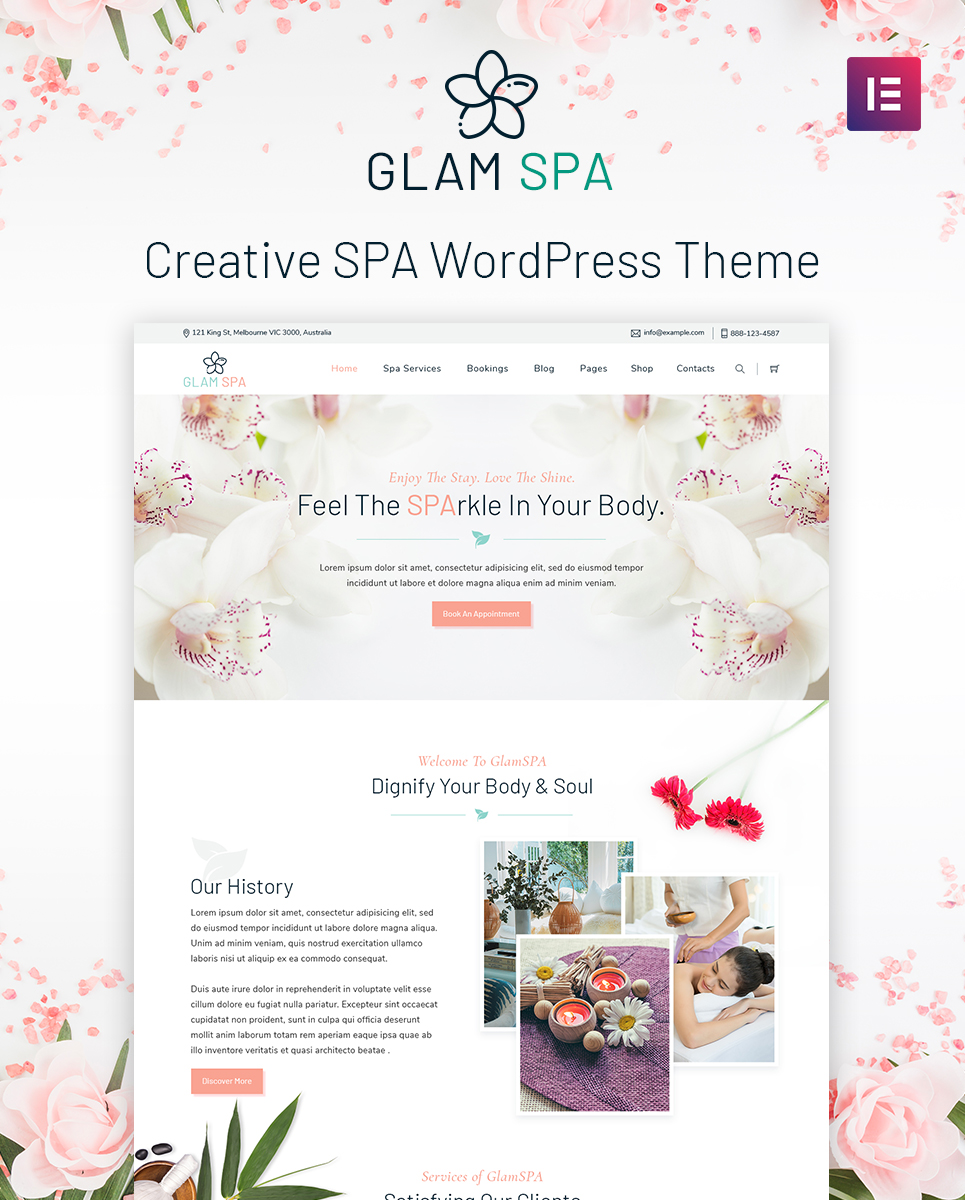 GlamSpa WordPress Theme