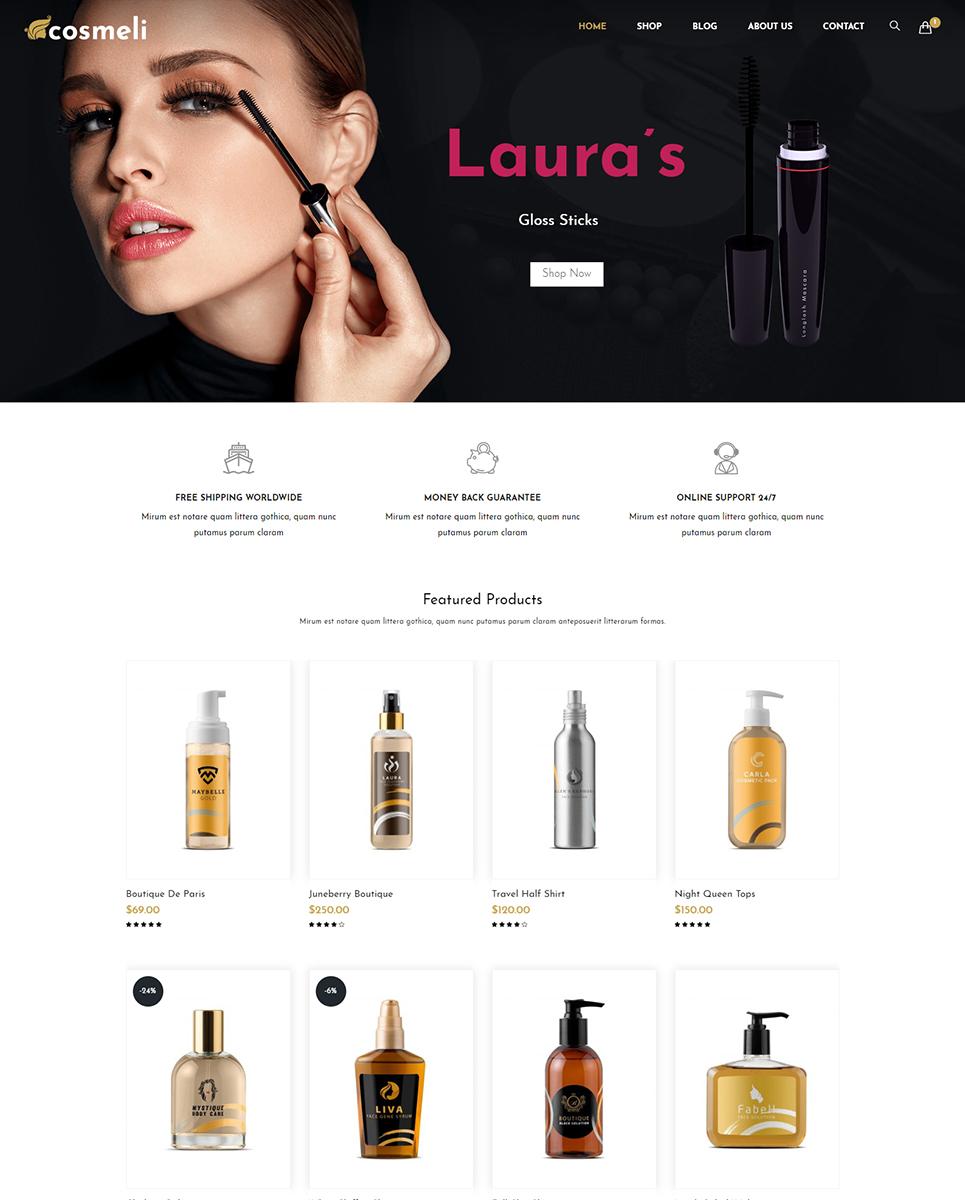 Cosmeli -  Cosmetics & Beauty WooCommerce Theme