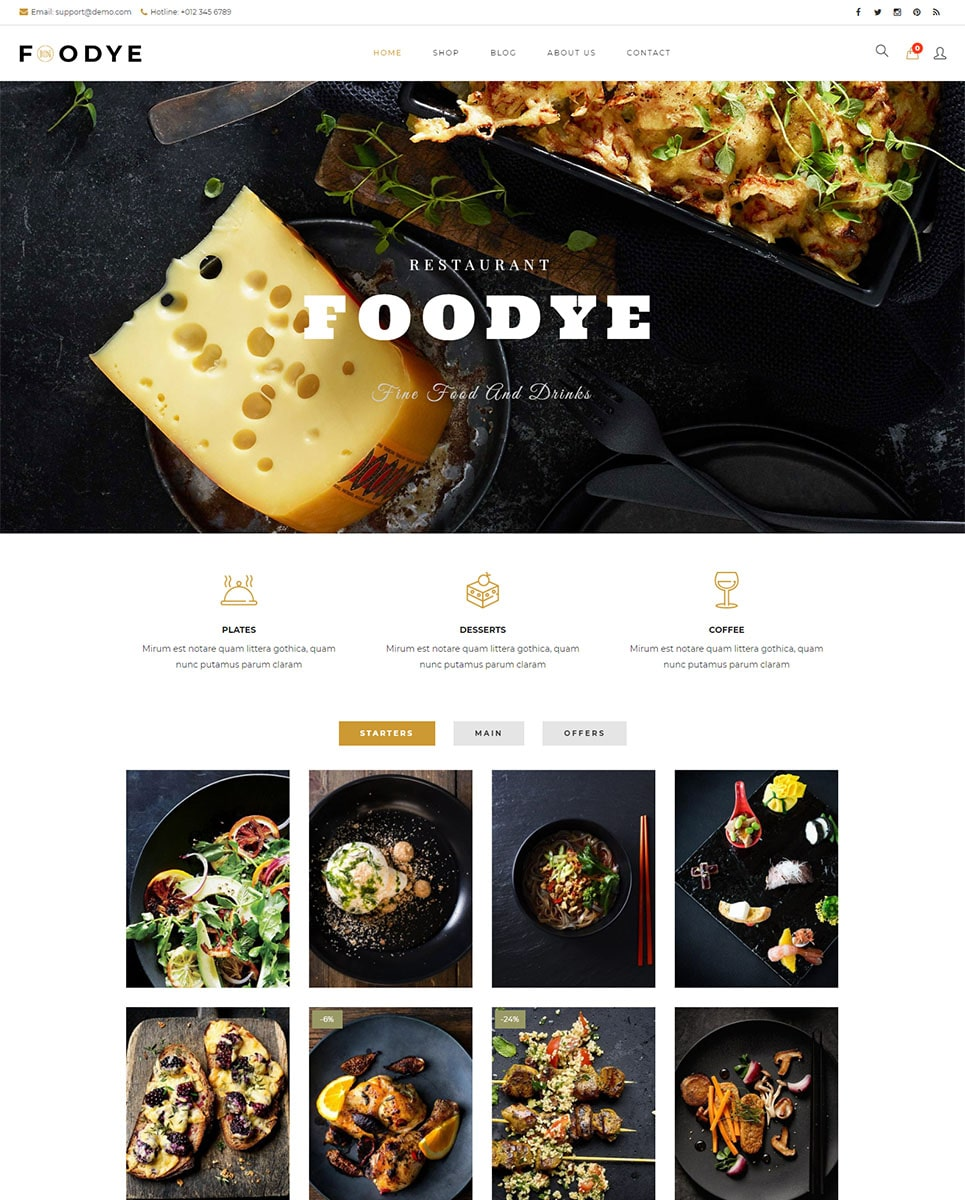 Foodye -  Restaurant and Food WooCommerce Theme