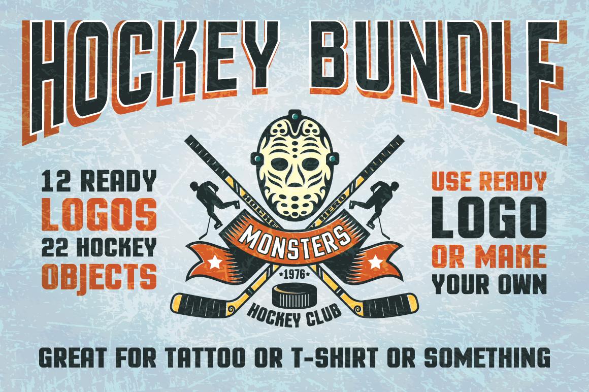 Hockey Logo Bundle Illustrations