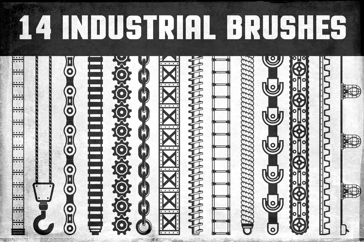 Industrial Vector Brushes Illustrations