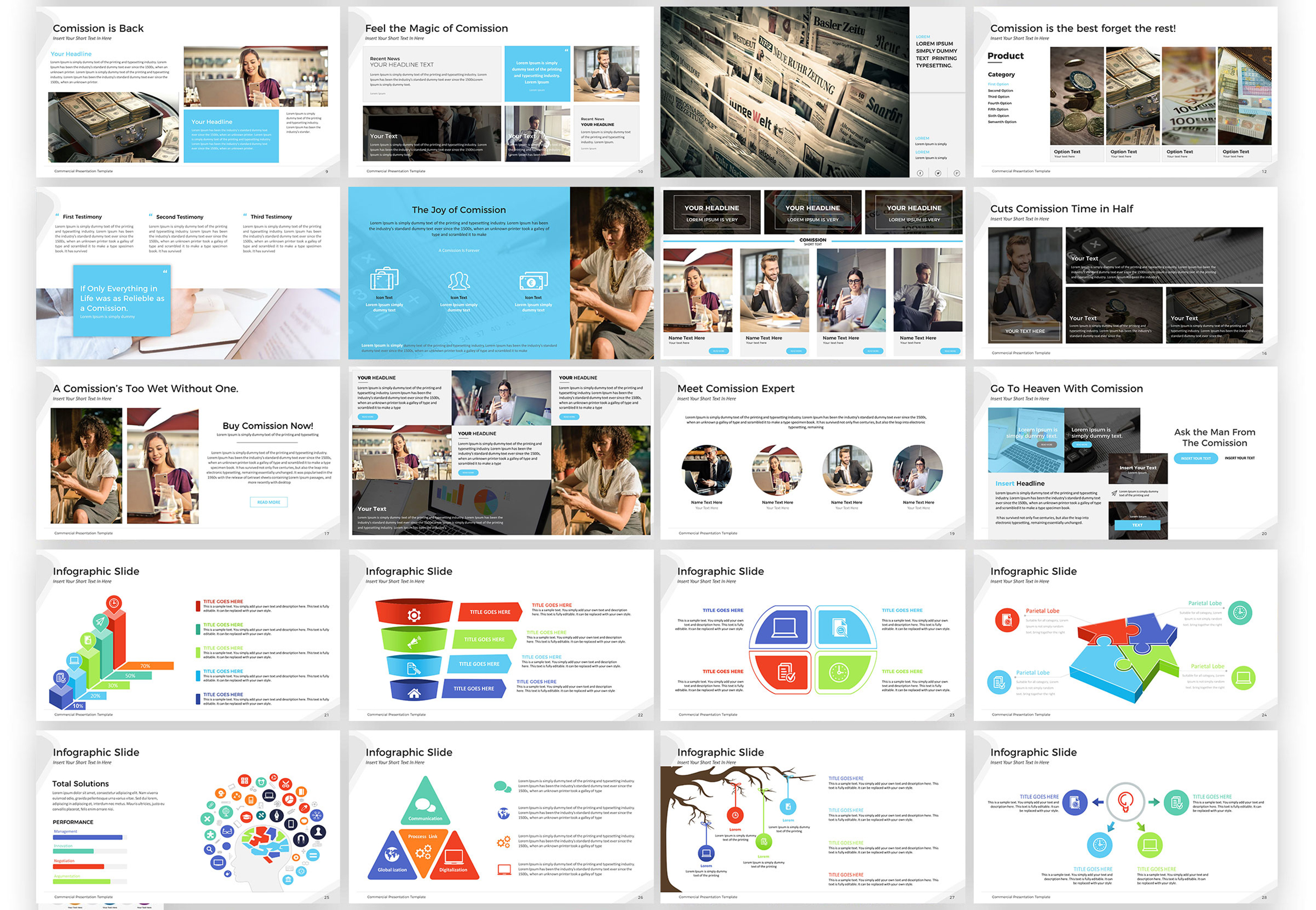 Commercial Presentation PowerPoint Template