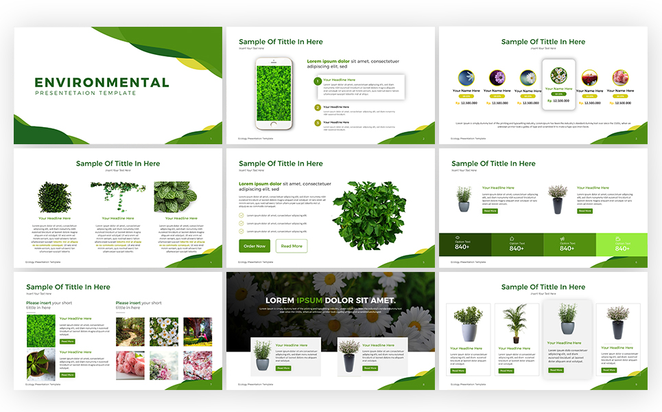 Ecology Presentation PowerPoint Template