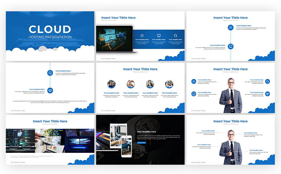 Cloud Hosting PowerPoint Template
