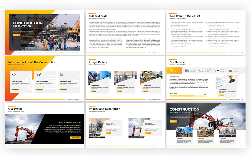 Construction Presentation - Keynote Template