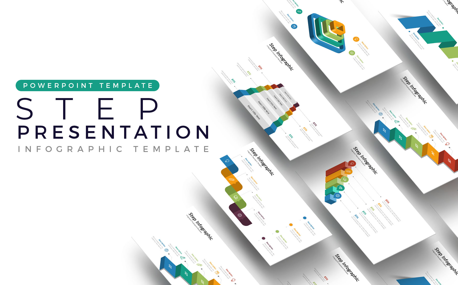 Step - Infographic Presentation Asset PowerPoint Template