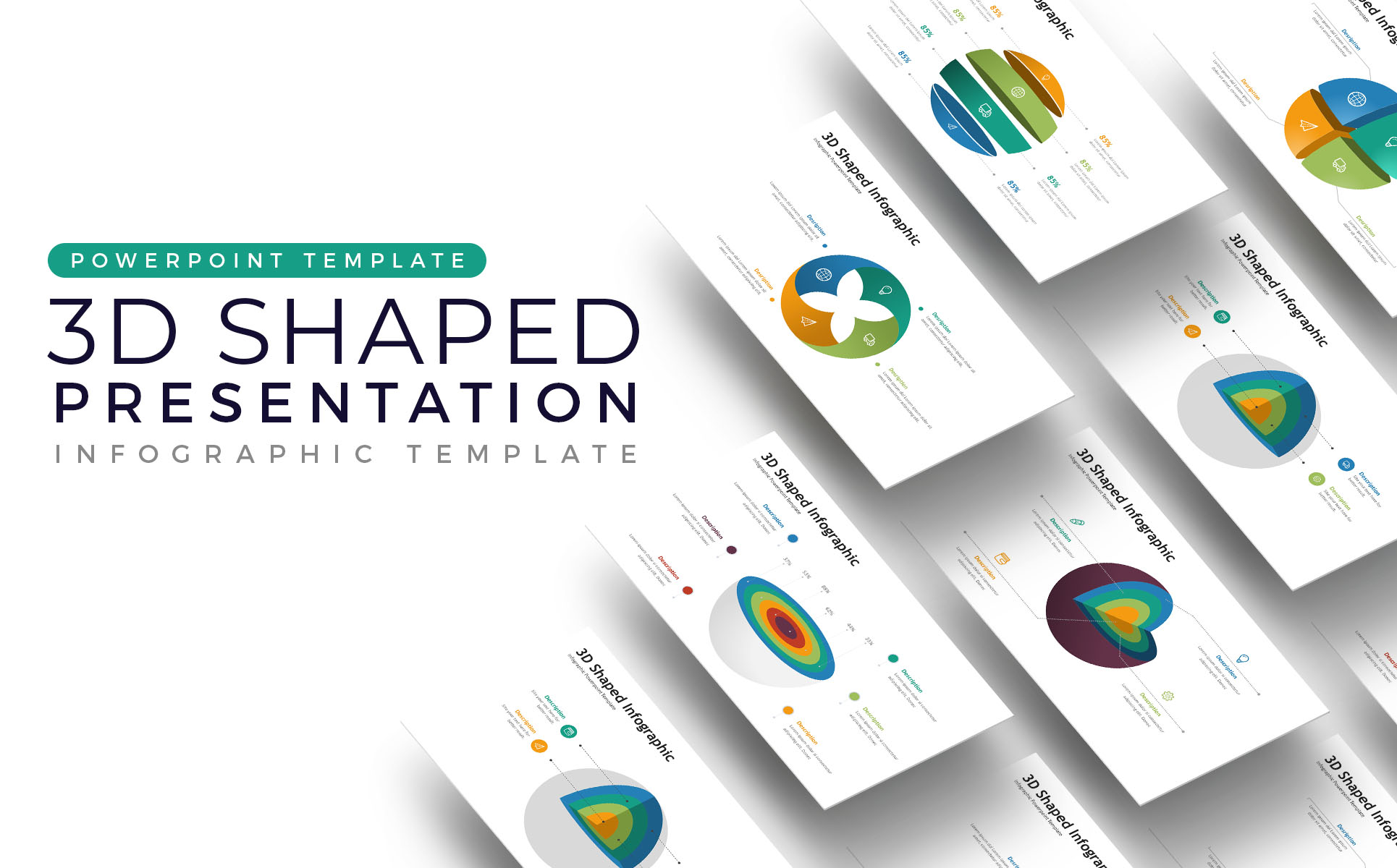 3D Infographic Presentation PowerPoint Template