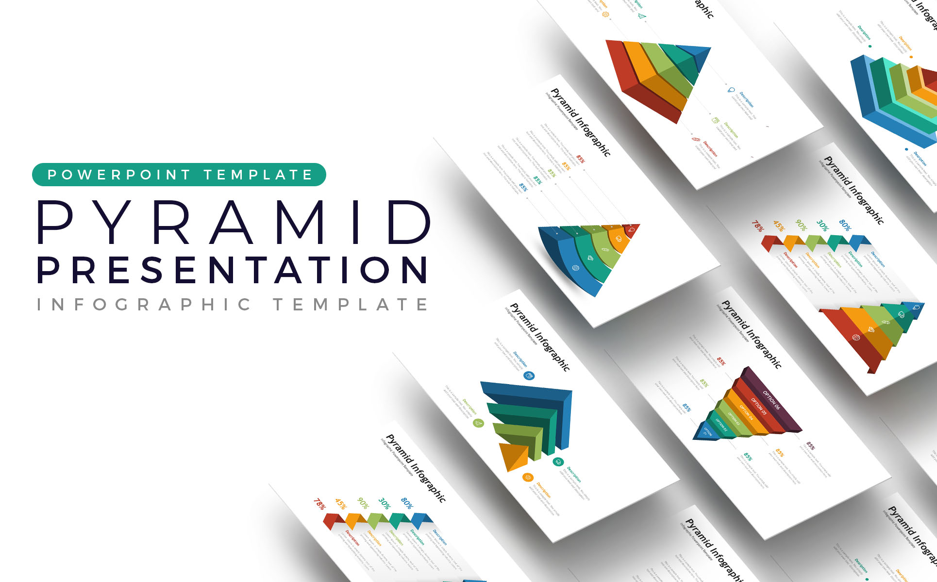 Pyramid Presentation - Infographic PowerPoint Template