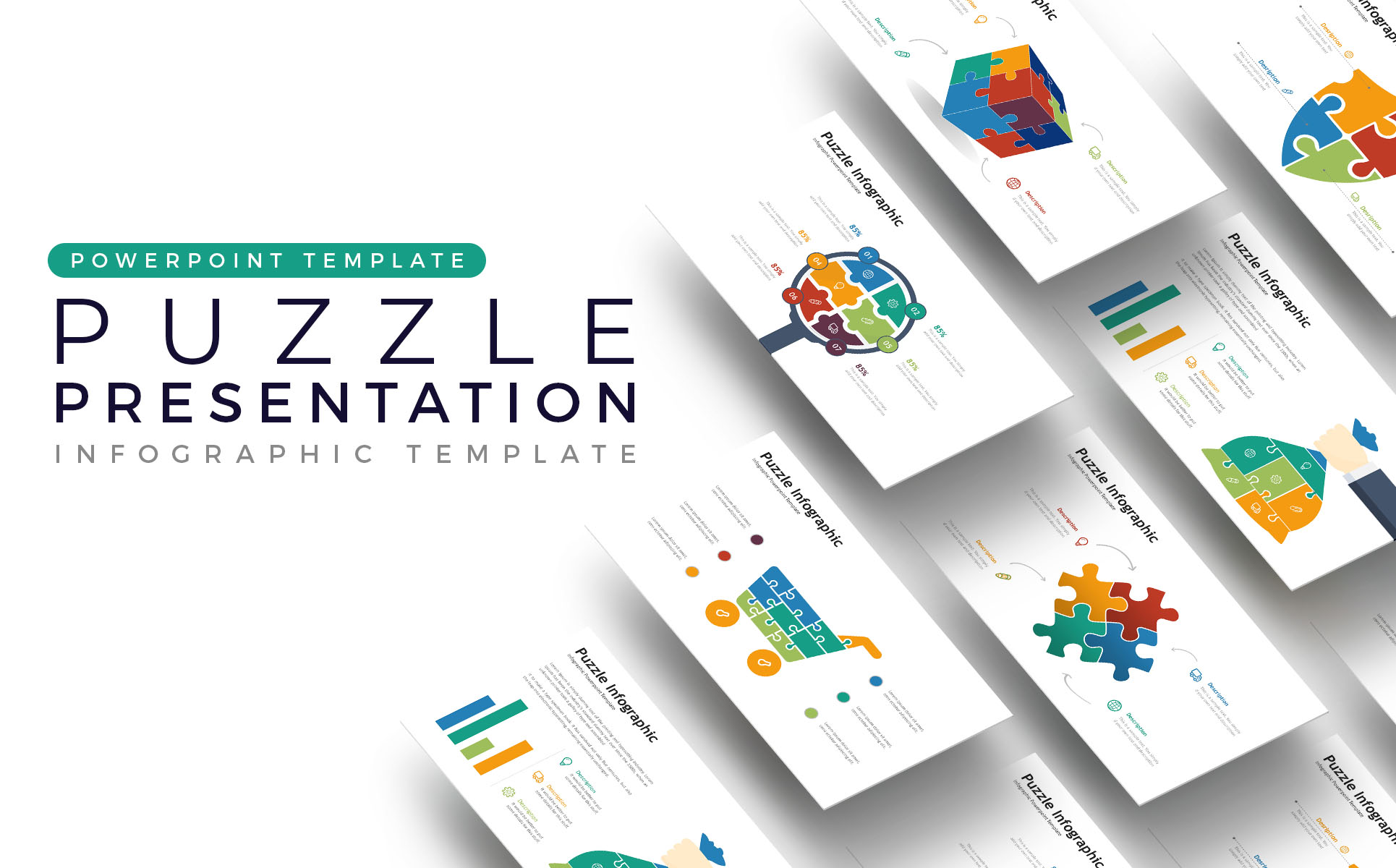 Puzzle Presentation - Infographic PowerPoint Template