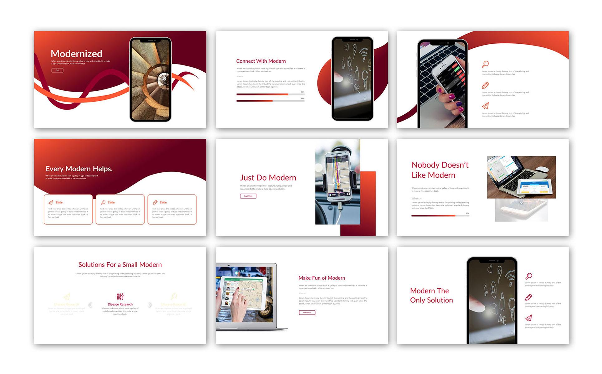 Modern Clean Presentation PowerPoint Template