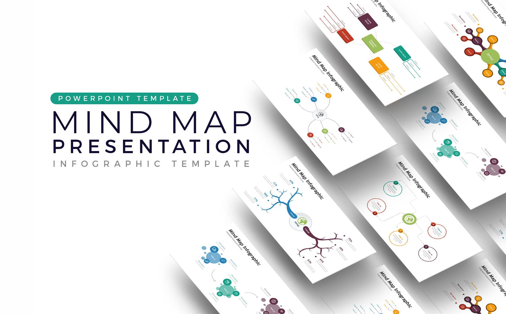 Mindmap Presentation - Infographic PowerPoint Template