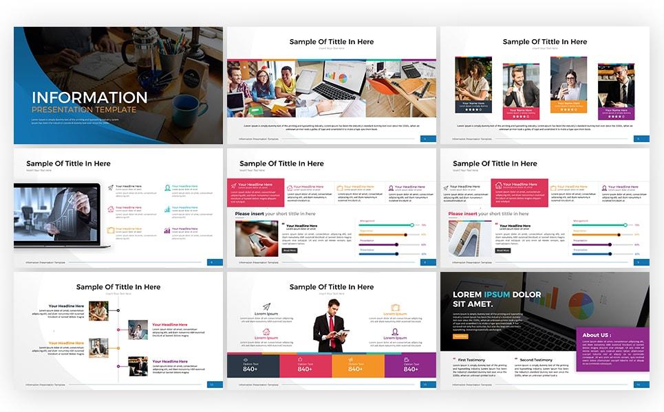 Information Presentation - Keynote Template