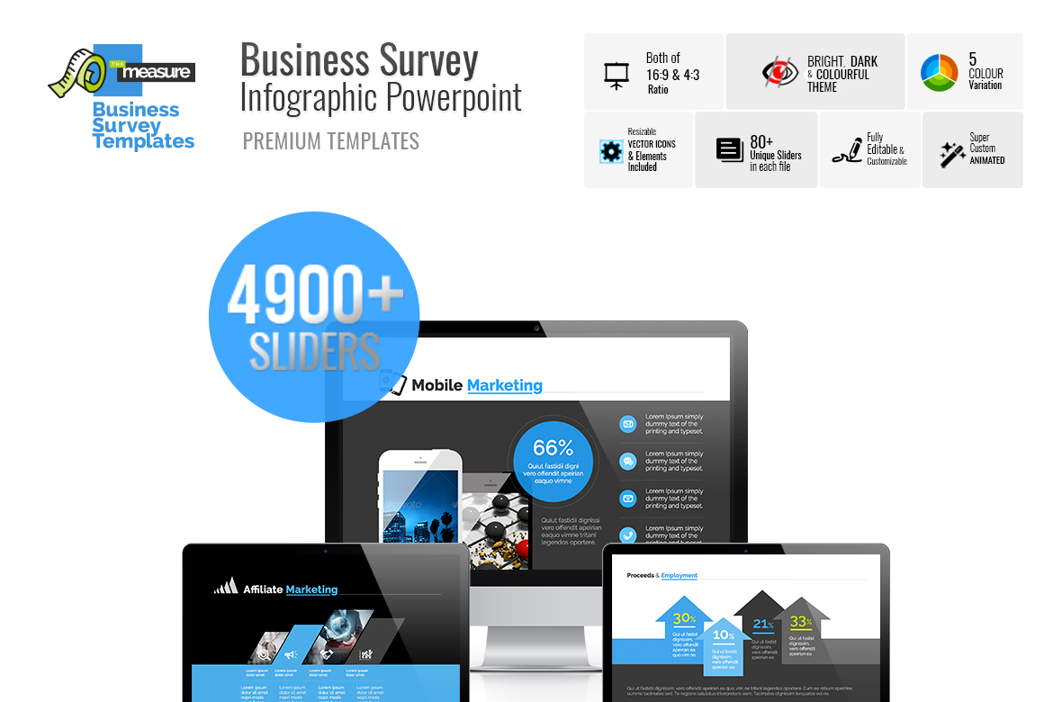 Business Survey & Marketing PowerPoint Template