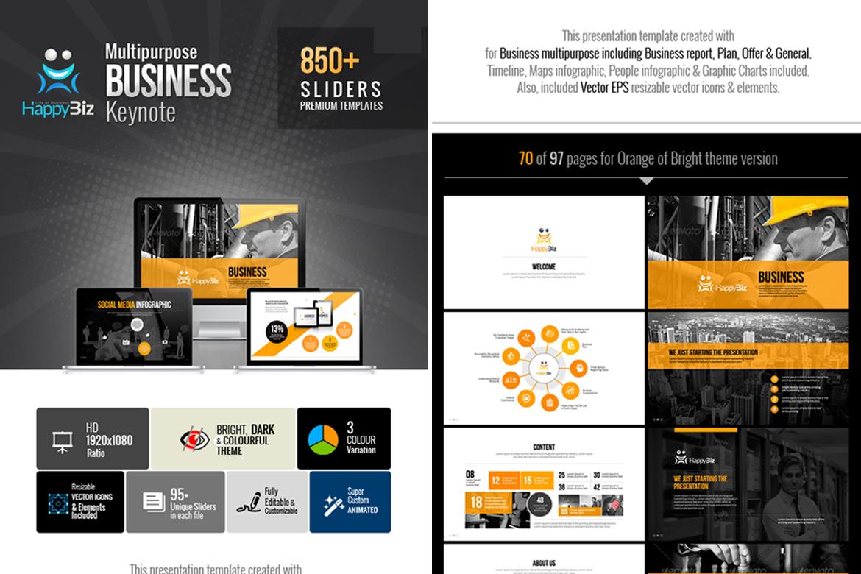 HappyBiz | Classic Business PowerPoint Template