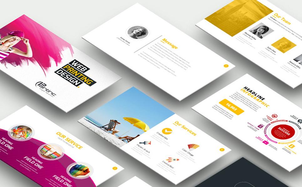Web Paintinc Identity Print Set PowerPoint Template