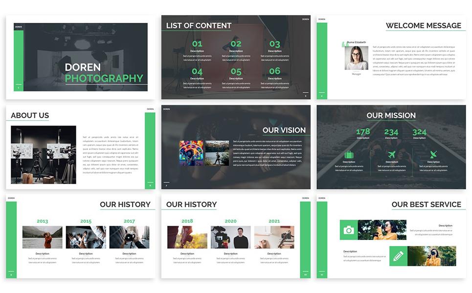 Doren - Photography PowerPoint Template
