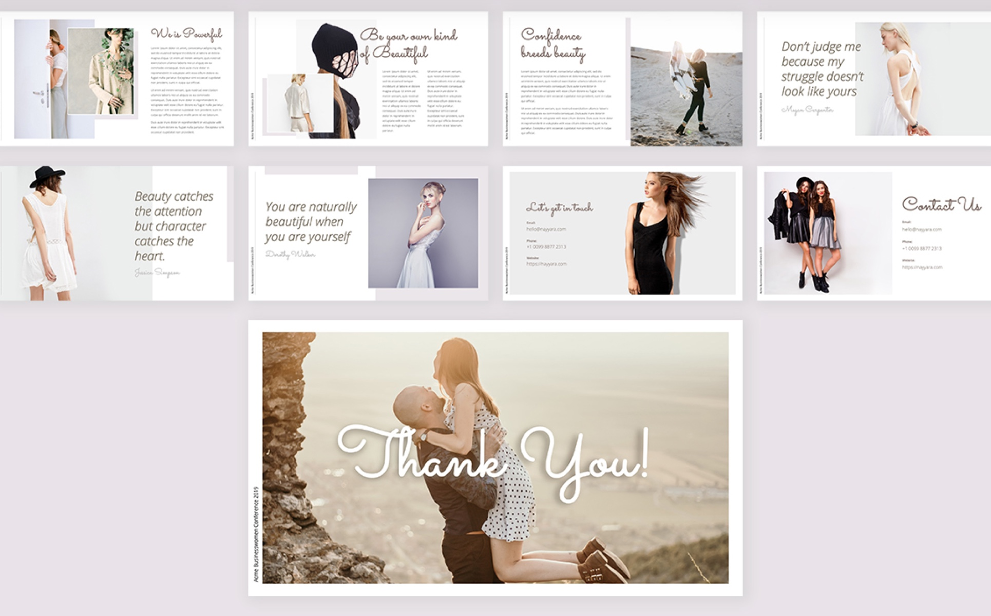 Nayyara Wedding and Beauty PowerPoint Template