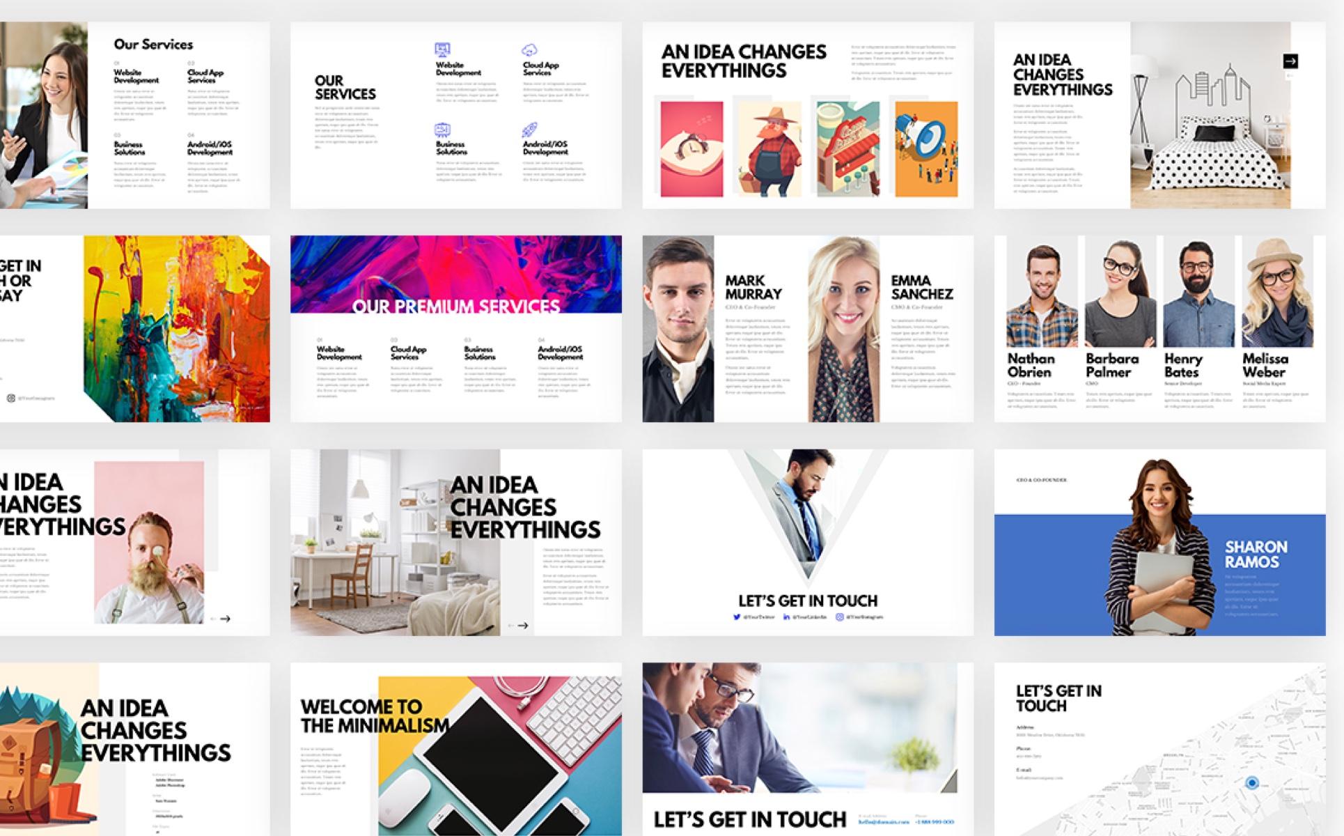 Maven - Creative Simple Presentation PowerPoint Template