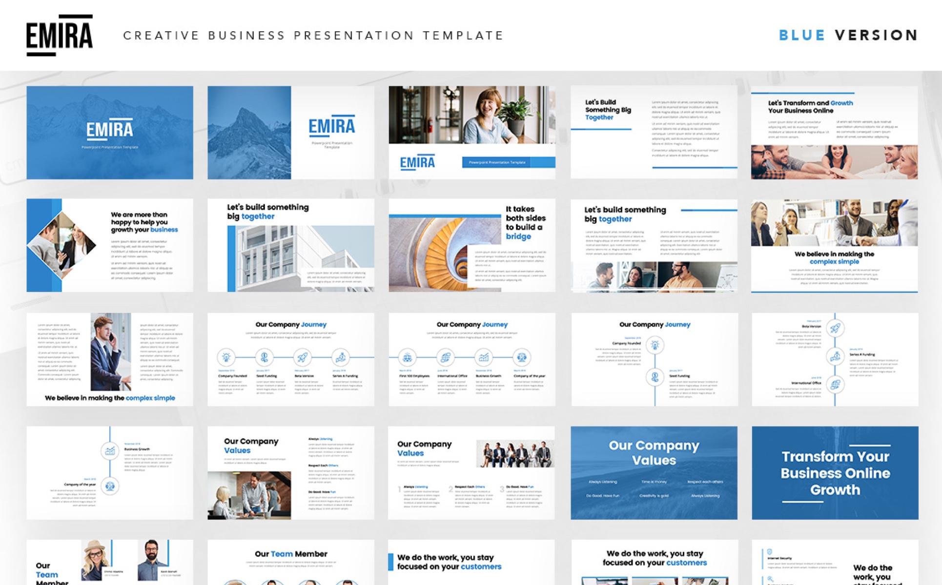 Emira - Creative Business Company PowerPoint Template