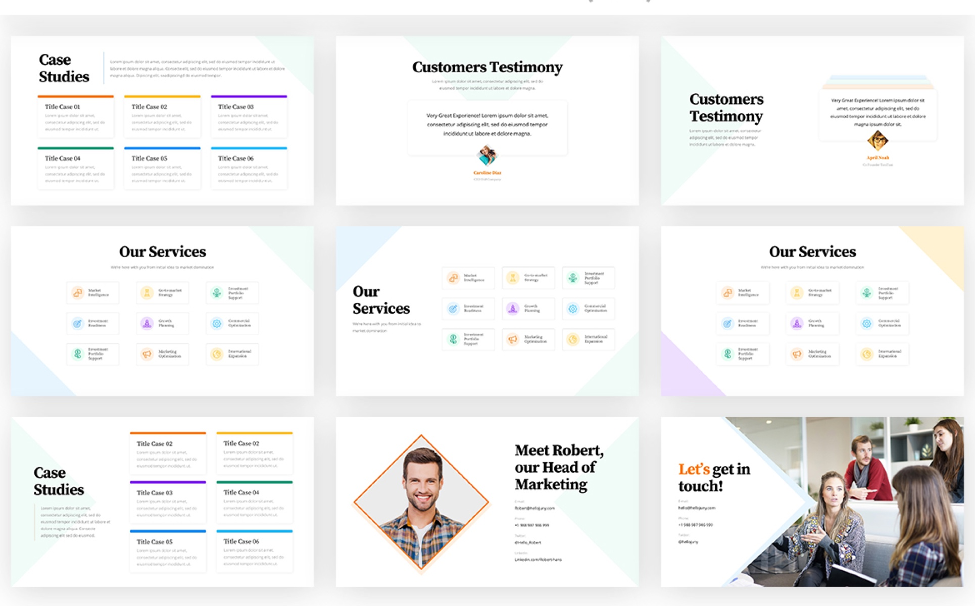 HelloJuny - Creative Company Business PowerPoint Template
