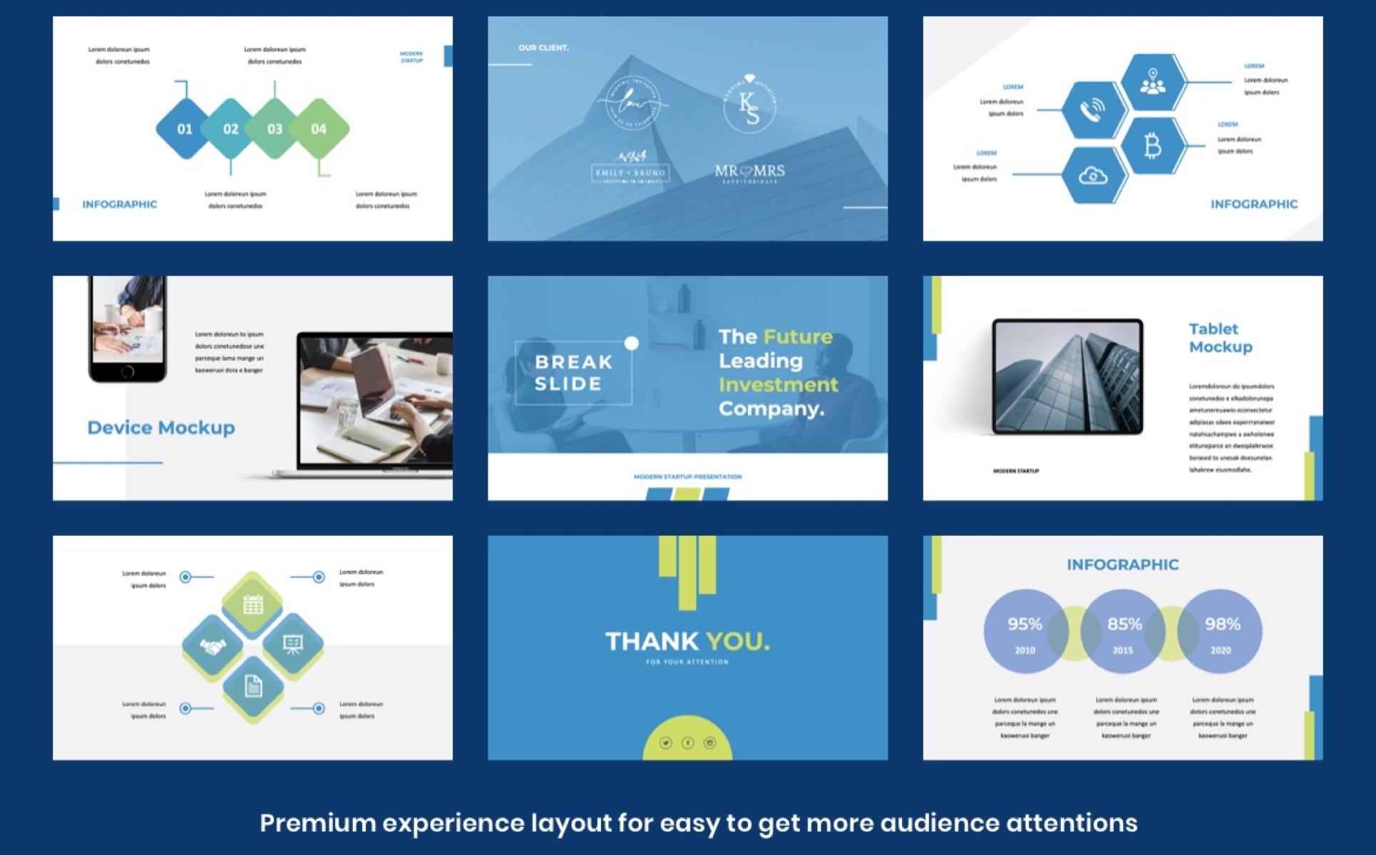 MODERN STARTUP - Presentation PowerPoint Template