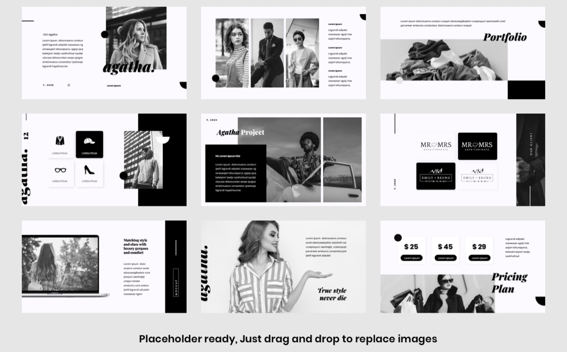 Agatha - Fashion PowerPoint Template