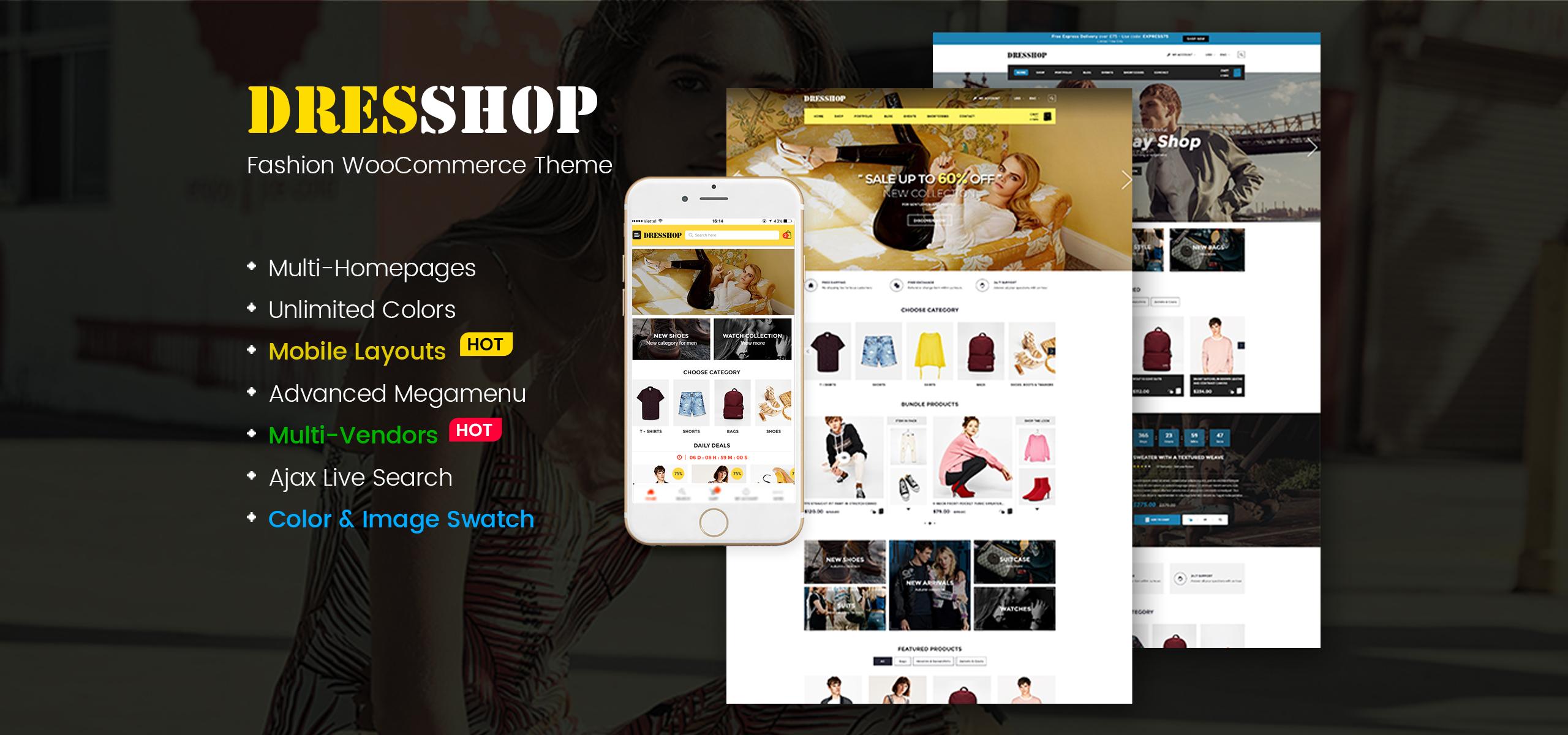 DresShop - Clean Fashion WooCommerce Theme