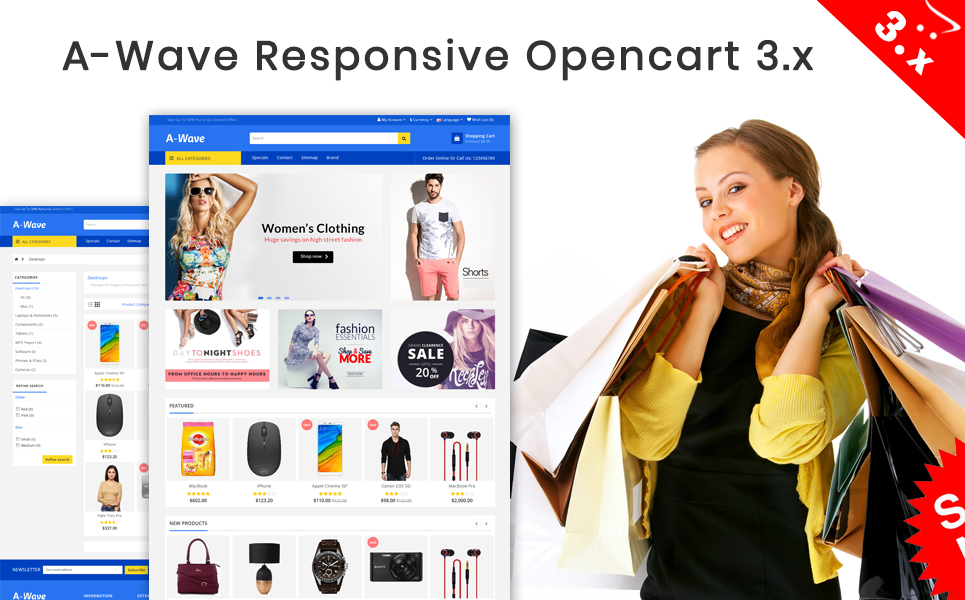 A-wave OpenCart Template
