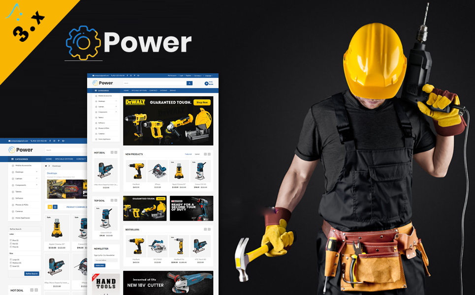 Powertools OpenCart Template