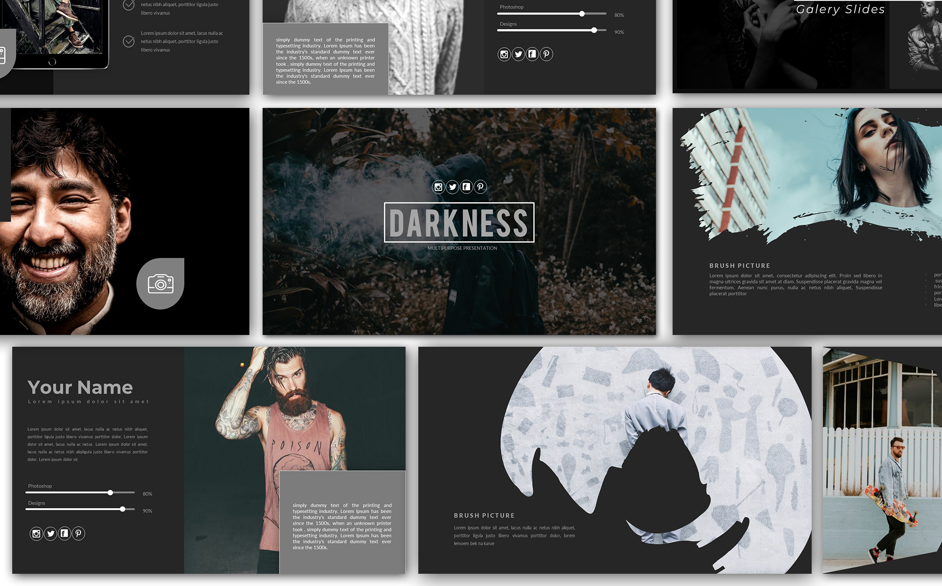Darkness Presentation PowerPoint Template