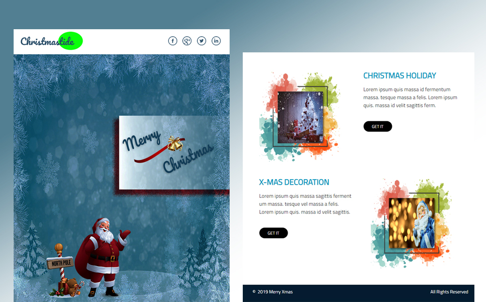 Christmas newsletter template in pdf for print / year in review.