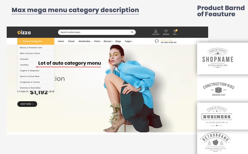 Dizza Women's Fashion Shopify Theme