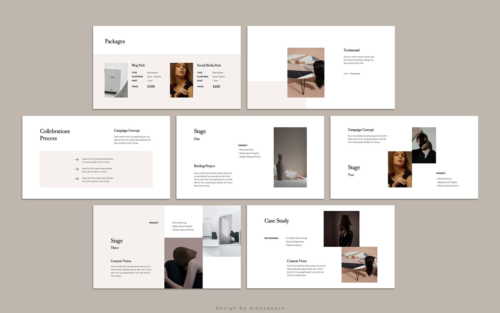 KARA - Media Kit PowerPoint Template