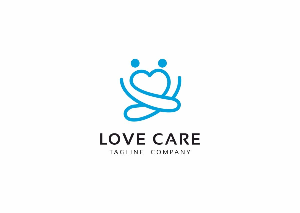 Love Care Logo Template