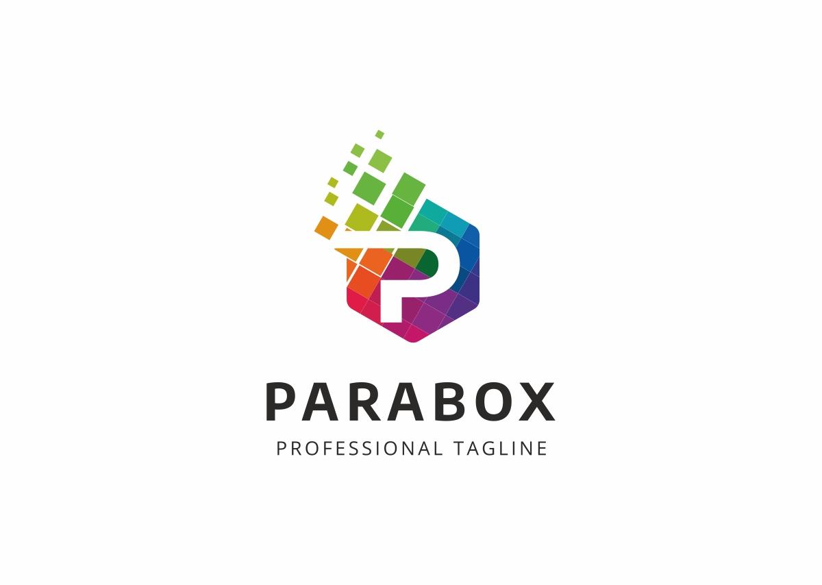 Parabox P Colorful Letter Logo Template