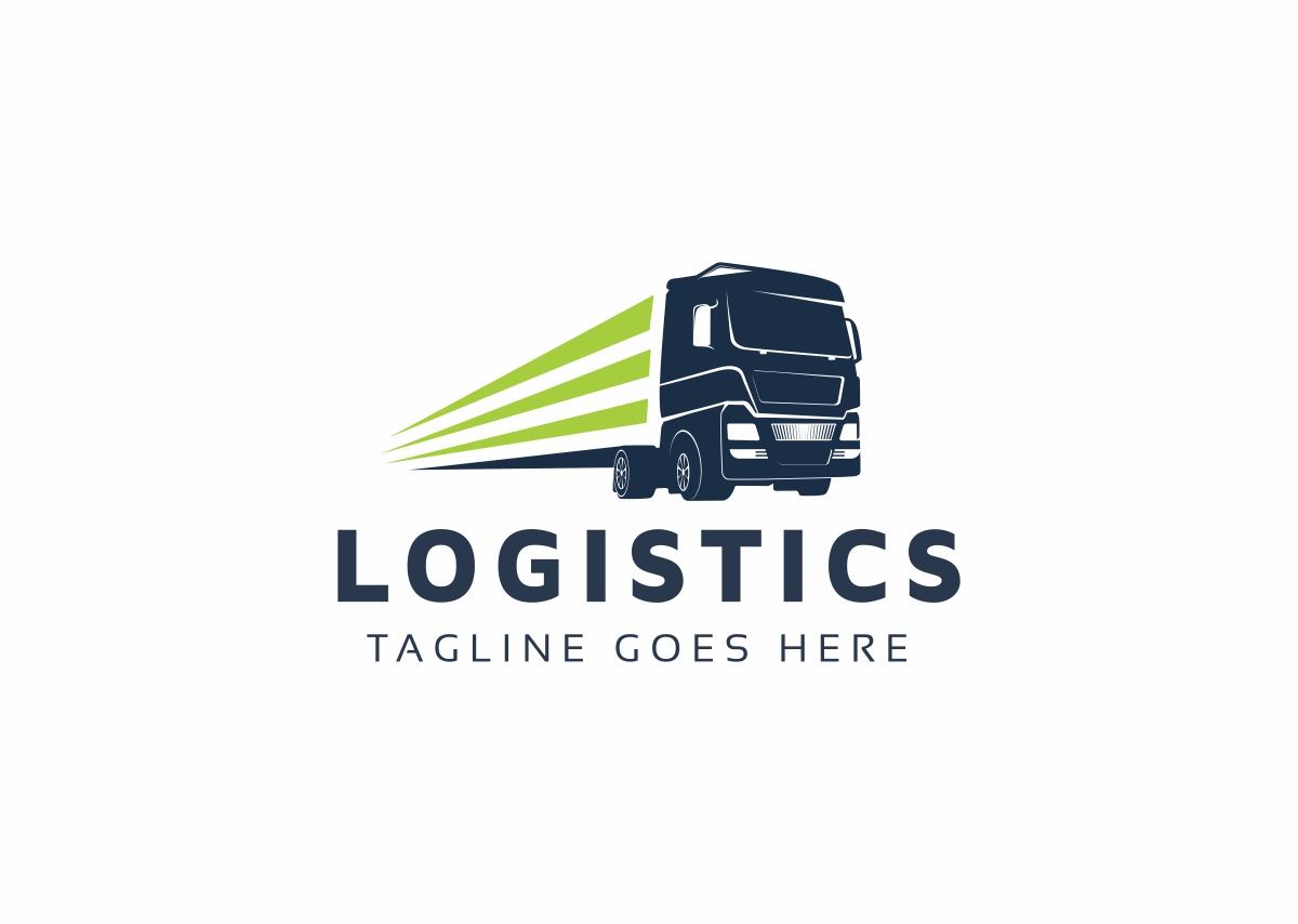 Logistics Truck Logo Template